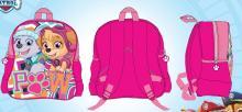Batoh Tlapková Patrola 3 kapsy růžový