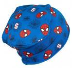 Bavlněná čepice Spiderman modrá vel. 54-56