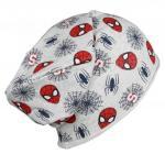 Bavlněná čepice Spiderman šedá vel. 54-56