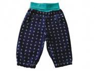 Dětské letní plátěné kalhoty modré vel. 86 českého výrobce Hippokids
