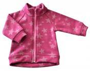 Kojenecký kabátek star růžová vel. 80