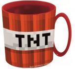 PLASTOVÝ HRNEK MINECRAFT červený TNT (micro)