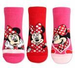 Ponožky kotníčkové Minnie Mouse vel.27-30 AKCE 49kč na 35kč